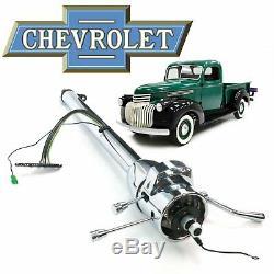 1941-46 Chevy AK Truck 33 Chrome TILT STEERING COLUMN SHIFT deluxe coe suburban