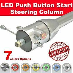 1955 1959 Chevy Truck Push Button Start Steering Column 32 tilt chrome
