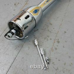 1959 1964 Full Size Chevrolet Chrome Tilt Steering Column No Key Floor Shift