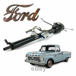 1961-66 Ford F100 Truck Keyed Black Tilt Steering Column 33 Straight-Six Ranger