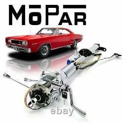 1962-76 Mopar B E Body 33 Chrome TILT STEERING COLUMN SHIFT With KEY Hemi SRT 383