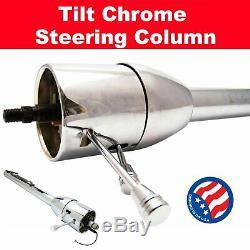 1963 1967 Chevy II Nova 32â Chrome Tilt Steering Column No Key Floor Shift
