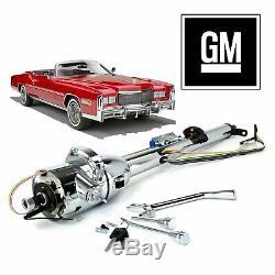 1963-78 GM E-Body Chrome Tilt Steering Column Keyed 33 starfire rochester th400
