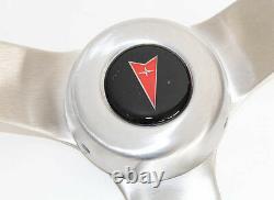 1964-1966 Pontiac Grand Prix LeMans Wood Steering Wheel Walnut 15 Tilt Column