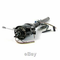 1964 1972 Chevelle 33 Black Tilt Steering Column KEYED Floor Shift Malibu SS