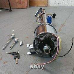1964 1972 Chevelle 33 Chrome Tilt Steering Column KEYED Floor Shift gmc gm