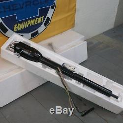 1964 1974 GM A Body Chevelle Black Tilt Steering Column KEYED Floor Shift gm