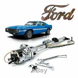 1964-78 Ford Mustang 33 Keyed Chrome Tilt Steering Column 289 mach 1 ghia 2 ii