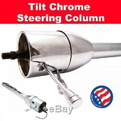 1965 1970 Impala 32 Chrome Tilt Steering Column No Key Floor Shift