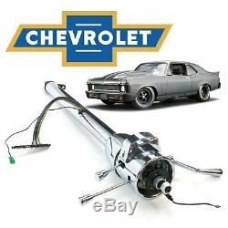 1968-1979 Chevy Nova 33 Chrome Tilt Steering Column Shift GM SS 350 TH350 Yenko