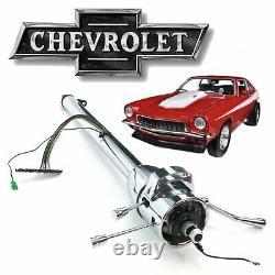1971-80 GM H-Body Tilt Steering Column Shift 33 Chrome Rochester Chevy Vega Z09
