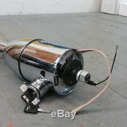 1988 1998 Chevy 33â Chrome Tilt Steering Column KEYED Floor Shift gmc gm