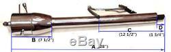 28 Auto Universal Raw Stainless Steel Tilt Steering Column & Adapter