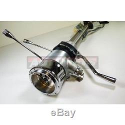 28 RAW Stainless Automatic Tilt Steering column Shift with Ignition Key GMChevy