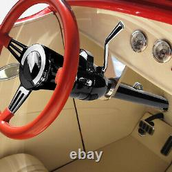 28 SS Black Coated Hot Rod Tilt Shift Automatic AT Steering Column for GM 55-59