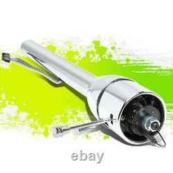 28Chrome Polish Hot Rod Tilt Manual MT Floor Shift Steering Column for GM 55-59