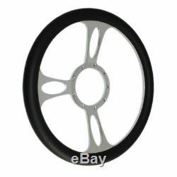 30 Chrome Tilt Steering Column Automatic Shift With Black Half Wrap Wheel Stree