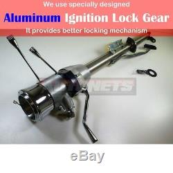 30 Raw Stainless Automatic Tilt Steering Column Shift With Ignition Key Chevy GM
