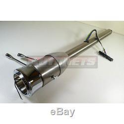 30 Raw Stainless Steel Tilt Steering Column Chevy Ford GM Manual Floor Shift