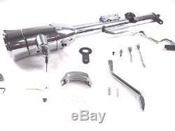 30 Tilt Steering Column Automatic With Key & Wheel Adapter Chrome BPS-1016
