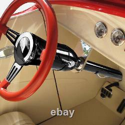 32 Black Coated Hot Rod Tilt Manual MT Floor Shift Steering Column for GM 55-59