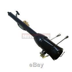 32 Black Stainless Floor Shift Tilt Steering Column With ignition KEY GM Hot Rod