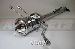32 GM Chevy Chrome Stainless Steel Tilt Steering Column Shift Automatic NO-KEY