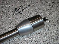 32 RAW Floor Shift Manual Tilt Steering Column + GM Adapter street rod custom