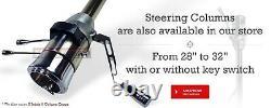 32 Raw Stainless Manual Floor Shift Tilt Steering Column withIgnition Key ChevyGM