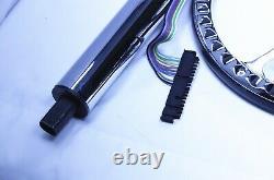 32 Street Hot Rod Chrome Tilt Steering Column Floor Shift With 9 Hole Wheel Kit