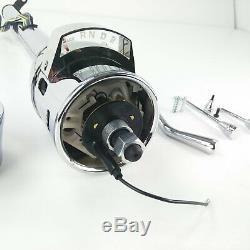 33 Chrome GM Steering Column Automatic Tilt Gear Indicator 9 hole Wheel Adapter