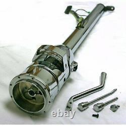 33 Chrome Steel Tilt Column Shift Steering Column + Shift Indicator GM Adapter