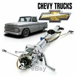 60-66 Chevy Truck 33 Chrome TILT STEERING COLUMN SHIFT key Stepside C10 K10 GMC