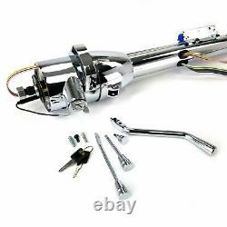 60-76 Mopar A-Body 33 Chrome TILT STEERING COLUMN SHIFT + KEY 340 demon dart V8