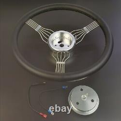 62-67 CHEVY 32 Tilt Steering Column Floor Shift NO KEY withBANJO Steering Wheel
