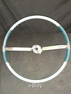 63 64 65 Cadillac Series 62 Fleetwood Tilt Column Steering Wheel Two Tone Blue