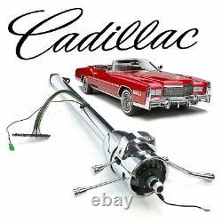 63-78 GM E-Body Tilt Steering Column Shift 33 Chrome th400 rocket 401 eldorado