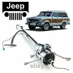 63-83 Jeep Wagoneer Chrome Tilt Steering Column Shift 33 Gladiator Cherokee SJ