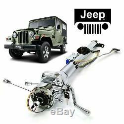 66-73 Jeep CJ DJ 33 Chrome TILT STEERING COLUMN SHIFT With KEY AMC Tremec Tuxedo
