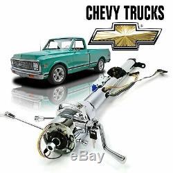 67-72 Chevy Truck 33 Chrome TILT STEERING COLUMN SHIFT Keyed TH350 c10 Cheyanne