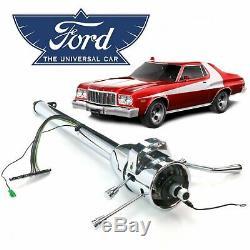 68-76 Ford Gran Torino 33 Chrome Tilt Steering Column Shift 429 C6 V8 Ranchero