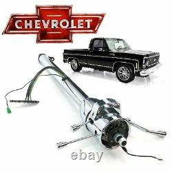 73-83 Chevy Truck 33 Chrome GM TILT STEERING COLUMN 3-Speed C10 TH350 Automatic