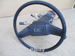 73-87 Chevy GMC Truck OEM Black Steering Wheel & Column with Tilt + Ignition Keys