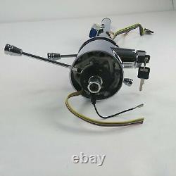 82-87 Chevy S10 2WD Chrome Tilt Steering Column KEYED Floor Shift GMC S15 Jimmy