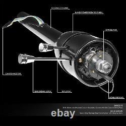 Black 32 MT Munual Floor Shift Hot Rod Tilt Steering Column for 55-59 Chevy GM