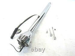 Chevy Universal 30 Straight Hot Rod Non-Tilt Chrome Steering Column BPS-1042