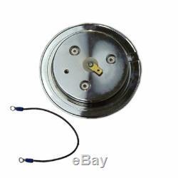 Chrome 32 Manual Tilt Steering Column & Adapter &14 Wheel & Smooth Horn Button