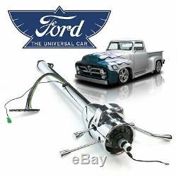 Chrome 5-Position Tilt Steering Column Auto Shift 33 Fits 1948-56 Ford F1 Truc