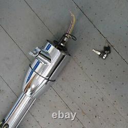Chrome Tilt Keyed Steering Column for 1957 1958 Ford Fairlane and Fairlane 500