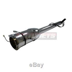 Chrome Tilt Steering Column Manual 32 Street Hot Rod Floor Shift No KEY without